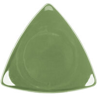 CAC TRG-21GRE Festiware Triangle Flat Plate 11 1/2 inch - Green - 12/Case