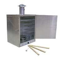 20 lb. Insulated Aluminum Smokehouse with Smokestack - 4 Racks