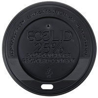 Eco-Products 10, 12, 16, and 20 oz. Black Recycled Content Hot Paper Cup Lid - 1000 / Case