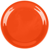Carlisle 3300852 6 1/2 inch Sunset Orange Sierrus Narrow Rim Pie Plate - 48/Case