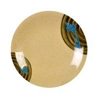 Wei 7 3/8 inch Round Melamine Dinner Plate - 12 / Pack