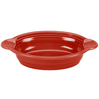 Homer Laughlin 587326 Fiesta Scarlet 17 oz. Oval Baker - 4 / Case