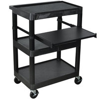 Luxor / H. Wilson LT34 Laptop Presentation Cart with 3 Shelves 34 inch High