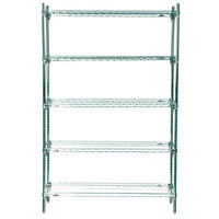 Metro 5A357K3 Stationary Super Erecta Adjustable 2 Series Metroseal 3 Wire Shelving Unit - 18 inch x 48 inch x 74 inch