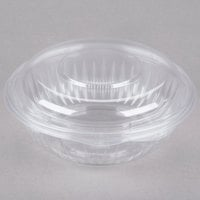 Dart Solo C24HBD PresentaBowls 24 oz. Clear Hinged Plastic Bowl with Dome Lid - 150/Case