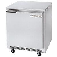 Beverage Air UCR27Y 27 inch Shallow-Depth Undercounter Refrigerator