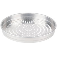 American Metalcraft SPHA5115 5100 Series 15 inch Super Perforated Heavy Weight Aluminum Straight Sided Self-Stacking Pizza Pan