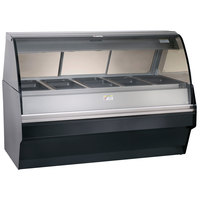 Alto-Shaam TY2SYS-72 BK Black Heated Display Case with Curved Glass and Base - Full Service 72 inch
