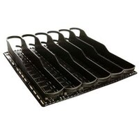 True 932634 Black Bottle Organizer - 3 1/8 inch x 17 7/8 inch - 28 Total Lanes; for 20 oz. Bottles