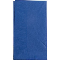 Choice 15 inch x 17 inch Navy Blue 2-Ply Paper Dinner Napkin   - 125/Pack