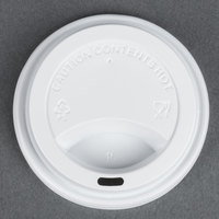 Choice 8 oz. White Hot Paper Cup Travel Lid - 1000 / Case