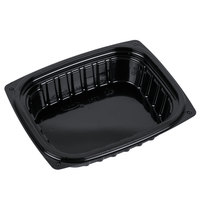 Dart Solo B8DE ClearPac 8 oz. Black Rectangular Plastic Container - 252/Case