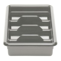 Cambro 1120CBP180 Light Gray 4 Compartment Cutlery Box 11 inch x 20 inch