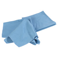 Carlisle 3633314 Flo-Pac 16 inch x 16 inch Blue Microfiber Fine Polishing Cloth - 12 / Pack