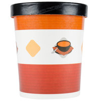 Choice 32 oz. Double-Wall Poly Paper Soup / Hot Food Cup with Vented Paper Lid - 250 / Case