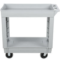 Continental 5800GY 34 inch x 17 inch Gray Utility Cart with 2-Shelf Recessed Top