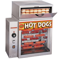 APW Wyott DR-2A Mr. Frank Hot Dog Broiler with Bun Holder