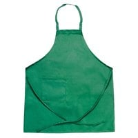Chef Revival 601BAC-GN Customizable Full-Length Kelly Green Bib Apron - 34 inchL x 28 inchW