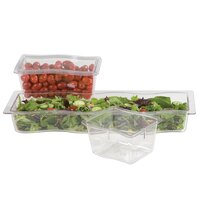 Carlisle 6984607 Modular Displayware 1/2 Size Clear Wavy Edge Food Pan - 6/Case