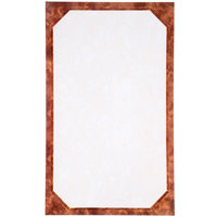 8 1/2 inch x 14 inch Brown Menu Paper - Angled Marble Border - 100/Pack