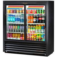 True GDM-41SL-54-LD Black 47 inch Convenience Store Glass Door Merchandiser - 17 Cu. Ft.