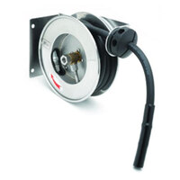 T&S B-7102 12' Open Compact Stainless Steel Hose Reel