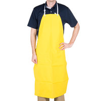 San Jamar 615NBA-Y Neoprene Yellow Bib Dishwashing Apron
