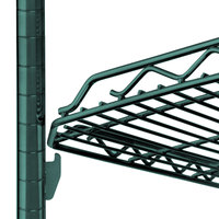 Metro HDM1836Q-DHG qwikSLOT Drop Mat Hunter Green Wire Shelf - 18 inch x 36 inch