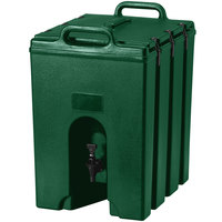 Cambro 1000LCD519 Camtainer 11.75 Gallon Green Insulated Beverage Dispenser