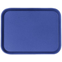 Cambro 1216FF186 12 inch x 16 inch Navy Blue Customizable Fast Food Tray - 24/Case
