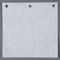 Georgia Pacific Interstate W55 5 inch x 5 inch Patty Paper with Holes for PM-1 Hamburger Press   - 777/Pack