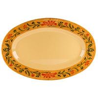 GET OP-135-VN Venetian 13 1/2 inch x 10 1/4 inch Oval Platter - 12/Case