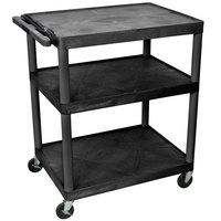 Luxor / H. Wilson LP40E 3 Shelf A/V Cart 32 inch x 24 inch x 40 inch