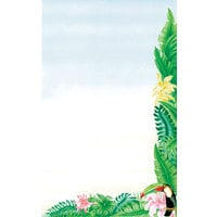 8 1/2 inch x 11 inch Menu Paper - Tropical Themed Toucan Design Right Insert - 100/Pack