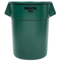 Rubbermaid Brute FG265500DGRN Green 55 Gallon Trash Can