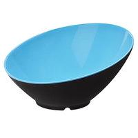 GET B-789-BL/BK Brasilia 1.1 Qt. Blue and Black Melamine Bowl - 6/Case