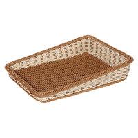 GET WB-1514-TT Designer Polyweave Plastic Cascading Basket 23 1/2 inch x 17 1/2 inch - 6 / Pack