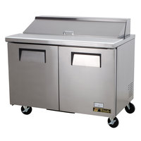 True TSSU-48-12 48 inch Two Door Sandwich / Salad Prep Refrigerator - 12 Pans
