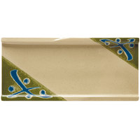 GET 140-TD Japanese Traditional Rectangular Plate 9 1/2 inch x 4 1/4 inch - 12/Case