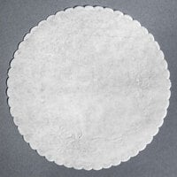 8 inch Floral Linen Paper Doilies 500 / Pack