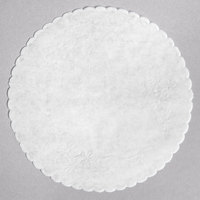 8 inch Floral Linen Paper Doilies - 500/Pack