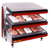 APW Wyott Racer DMXD-36H 36 inch Horizontal Countertop Double Shelf Merchandiser - 120V