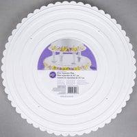 Wilton 302-18 Decorator Preferred Round Scalloped Edge Cake Separator Plate - 18 inch