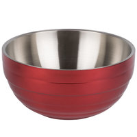 Vollrath 4656915 Double Wall Round Beehive 10 Qt. Serving Bowl - Dazzle Red