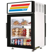 True GDM-5PT-LD White Pass-Through Countertop Display Refrigerator with Swing Door - 5 cu. ft.