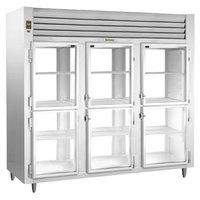Traulsen AHT332WPUT-HHG 83.2 Cu. Ft. Three Section Glass Half Door Pass-Through Refrigerator - Specification Line