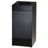 Rubbermaid SC14E Silhouettes Black Steel Designer Waste Receptacle - 24 Gallon (FGSC14ERBTBK)