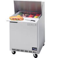 Beverage Air SPE27C-B 27 inch Refrigerated Salad / Sandwich Prep Table with Cutting Top