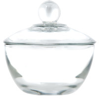 Anchor Hocking 64192B 8 oz. Glass Sugar Bowl with Lid - 4 / Case