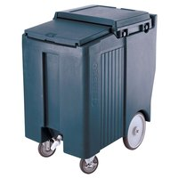 Cambro ICS175TB401 Slate Blue Sliding Lid Portable Ice Bin - 175 lb. Capacity Tall Model